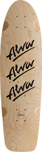 Alva - 1979 Tri - Logo Deck - 10x30 Nat / Blk W / Grip - Skateboard Deck