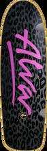 Alva - Leopard Deck - 10x33 Blk / Blk W urple - Skateboard Deck