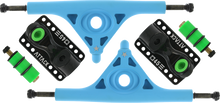 Attack Trucks - Black Star Rkp 180mm / 45° Blu / Blk - (Pair) Skateboard Trucks
