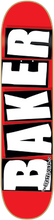 Baker - Brand Logo Deck - 8.25 Red / White - Skateboard Deck