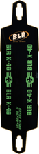 Black Leather Racing - Speed Board X - 40 Deck - 10x40 / 31.6wb - Skateboard Deck