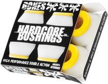 Bones Wheels - Hardcore 4pc Med White / Yellow Bushings - Skateboard Bushings