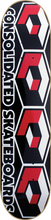 Consolidated - 4 Cube Deck - 7.75 Blk / Red - Skateboard Deck