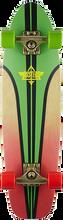 "Dusters - Glassy Pinstripe Complete - 29"" Rasta - Complete Skateboard"