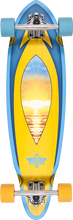 """Dusters - Mini Fin Cruiser Complete - 8.37x31"""" Sunset - Complete Skateboard"""