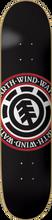 Element - Elemental Seal Deck - 8.0 Black Thriftwood Ppp - Skateboard Deck