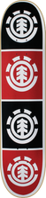 Element - Quadrant Deck - 8.0 Wht / Blk / Red Thriftwood Ppp - Skateboard Deck