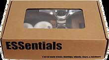 Essentials - Comp Pk Raw W / Wht 52mm Ppp - (Pair) Skateboard Trucks