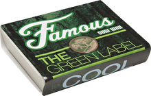 Famous - Green Label Cool Single Bar Wax Organic - Surfboard Wax