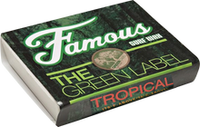 Famous - Green Label Tropical Single Bar Wax Organic - Surfboard Wax