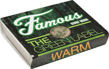 Famous - Green Label Warm Single Bar Wax Organic - Surfboard Wax