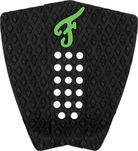 Famous - Nat.curran Stranded 3pc Blk / Grn Traction - Surfboard Traction