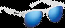 Glassy Sunhaters - Shredder Wht / Blu Mirror Sunglasses