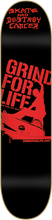 Grind For Life - For Life Logo Deck - 7.75 Blk / Red - Skateboard Deck