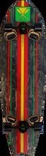 """Kahuna Big Stick - Shaka Kahili 46"""" Complete - 13.7x46 Blk / Rasta - Complete Skateboard"""