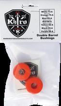 Khiro - Double Barrel Bushing Set 79a M - Soft Orange - Skateboard Bushings