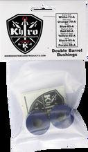Khiro - Double Barrel Bushing Set 85a Soft Blue - Skateboard Bushings