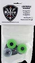 Khiro - Low - Pro Bushing / Cup Washer Kit 92a Med Lime - Skateboard Bushings