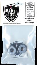 Khiro - Alum Insert Bushing Set 95a Hard Black - Skateboard Bushings