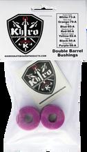 Khiro - Double Barrel Bushing Set 99a X - Hard Purple - Skateboard Bushings