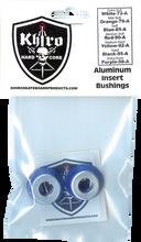 Khiro - Alum Insert Bushing Set 85a Soft Blue - Skateboard Bushings