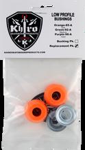Khiro - Low - Pro Bushing / Cup Washer Kit 85a Soft Org - Skateboard Bushings