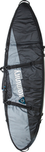 "Komunity Project - Double Traveler Board Bag 6' - 6"" Grey / Blk - Surfboard Boardbag"