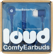 Loud Headphones - Silas Baxter Neal Fat & Flat Earbuds Navy / Wht