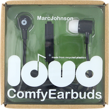 Loud Headphones - Marc Johnson Fat & Flat Earbuds Blk / Wht