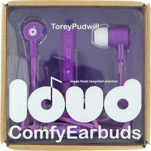 Loud Headphones - Pudwill Fat & Flat Earbuds Pur / Wht