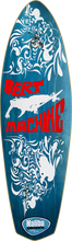 Malibu Surfskates - Bert Machine Deck - 9x30 / 17wb Aqua - Skateboard Deck
