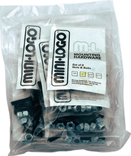 "Mini Logo - 10 ack Hardware 1 - 1 / 4"" Phillips Black"