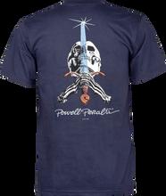 Powell Peralta - Skull & Sword Ss S - Navy - Skateboard Tshirt