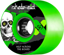 Powell Peralta - Atf 59mm 78a Skate Aid Ripper Green - (Set of Four) Skateboard Wheels