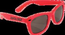 Santa Cruz - Strip Shades Wayfarer Sunglasses Red