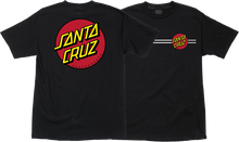 Santa Cruz - Classic Dot Ss L - Black - Skateboard Tshirt