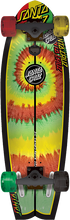 Santa Cruz - Land Shark Rasta Tie Dye Complete - 8.8x 27.7 - Complete Skateboard