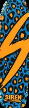 Siren - Leopard Deck - 8.25x32 Blue - Skateboard Deck