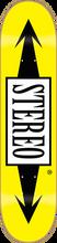 Stereo - Arrows Standard Deck - 7.5 Yellow Ppp - Skateboard Deck