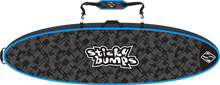 Sticky Bumps - Double Travel Bag 7'6 Blk / Blu / Reflective - Surfboard Boardbag