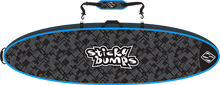 Sticky Bumps - Double Travel Bag 8'6 Blk / Blu / Reflective - Surfboard Boardbag