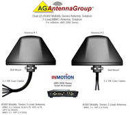 Dual (2) AG60 Antennas – 7 Lead MIMO Bolt Mount Dual Antenna Solution For InMotion oMG 2000 Series BLK