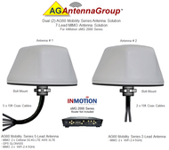 Dual (2) AG60 Antennas – 7 Lead MIMO Bolt Mount Dual Antenna Solution For InMotion oMG 2000 Series WT