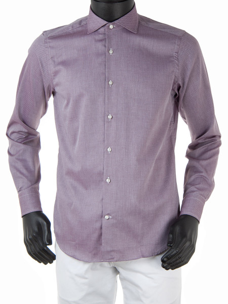 Lilac Pinpoint Cotton Shirt