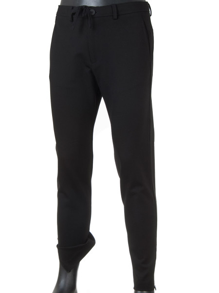 Black Drawstring Jersey Pants