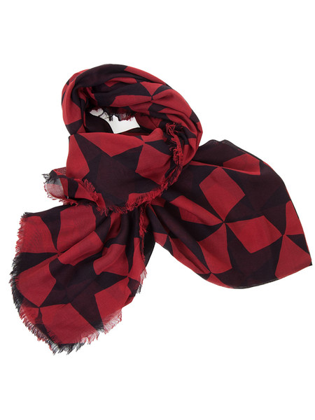 Red Star Patterned Scarf
