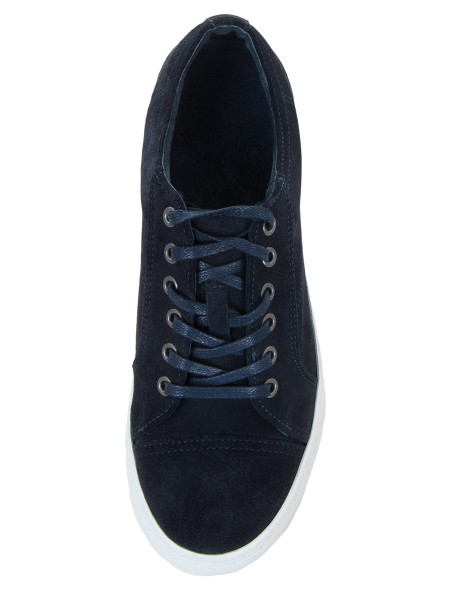 Dark Navy Suede Sneakers