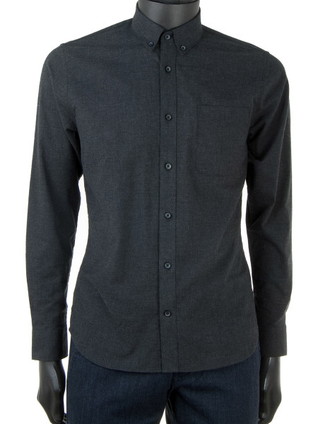 Ultrasoft Dark Grey Flannel Shirt