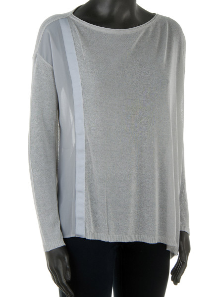 French Grey Semi-Sheer Top