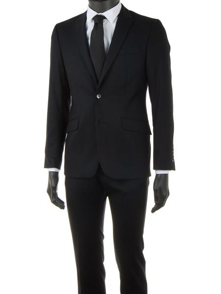 Black Light Wool Spring Suit
